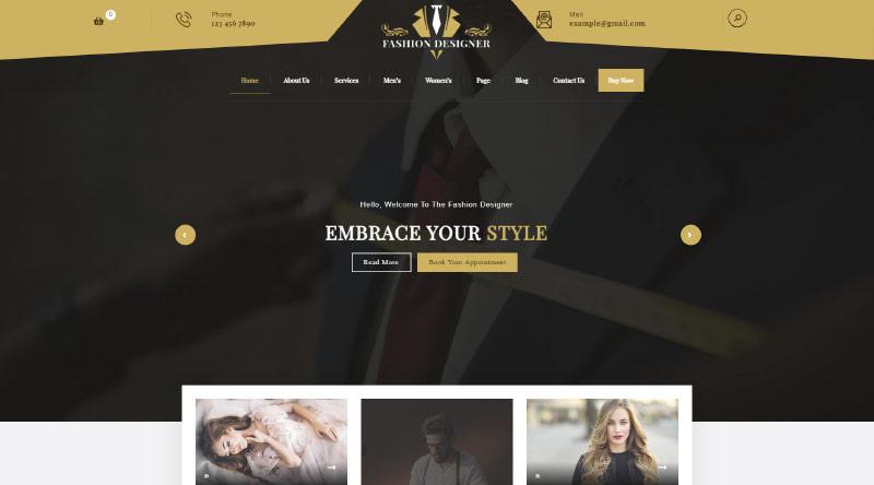 Fashion Designer WordPress Theme