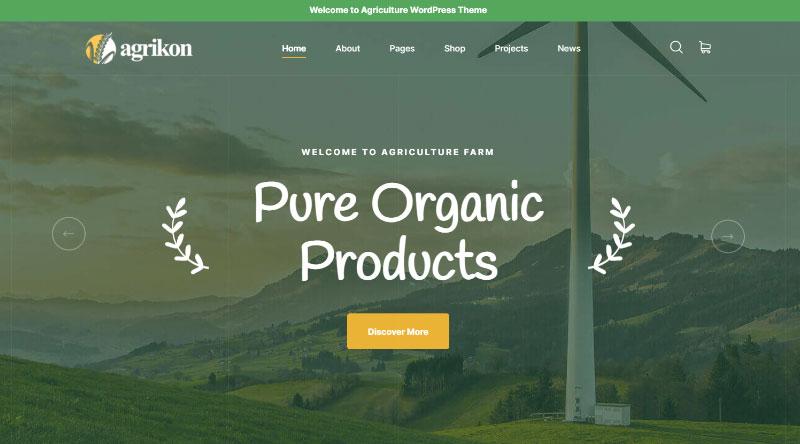 Agrikon WordPress Theme