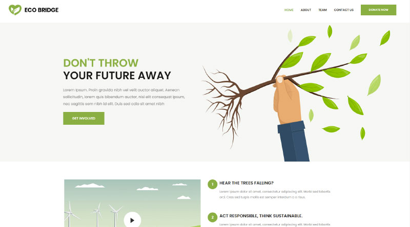 Bridge Eco WordPress Template
