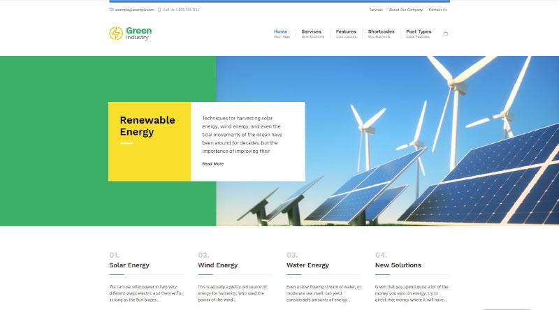 Green Industry WordPress Theme