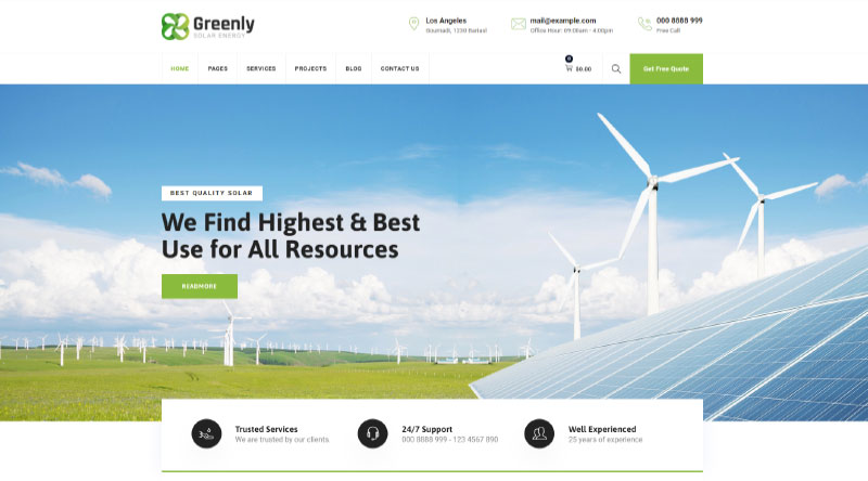 Greenly WordPress Theme