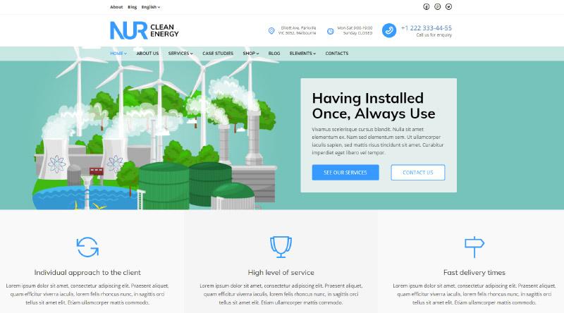 Nur WordPress Theme