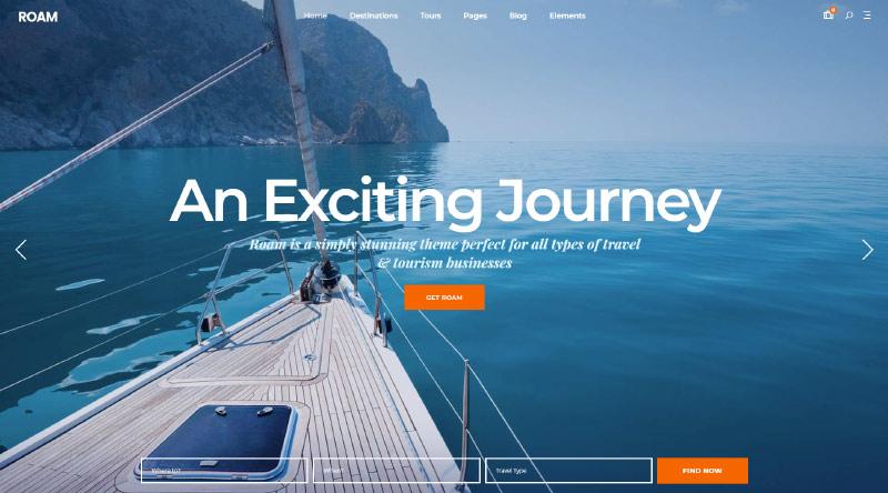 Roam Marine WordPress Theme