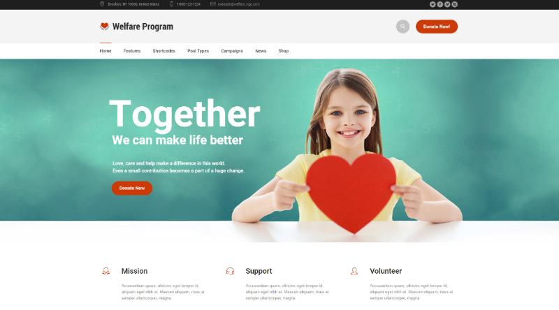 Welfare NGO WordPress Theme