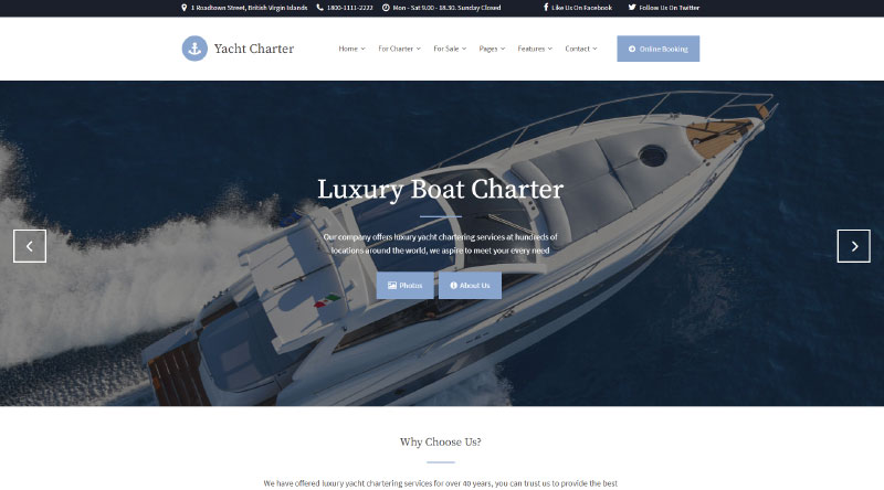 Yacht Charter WordPress Theme