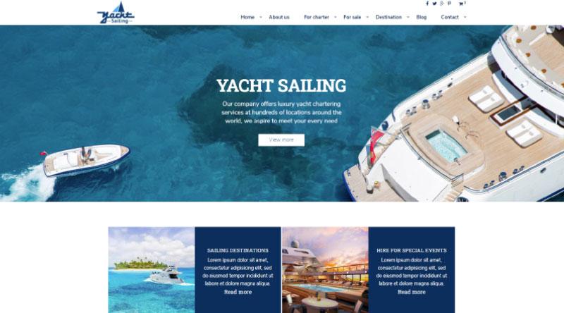 Yacht Sailing WordPress Theme