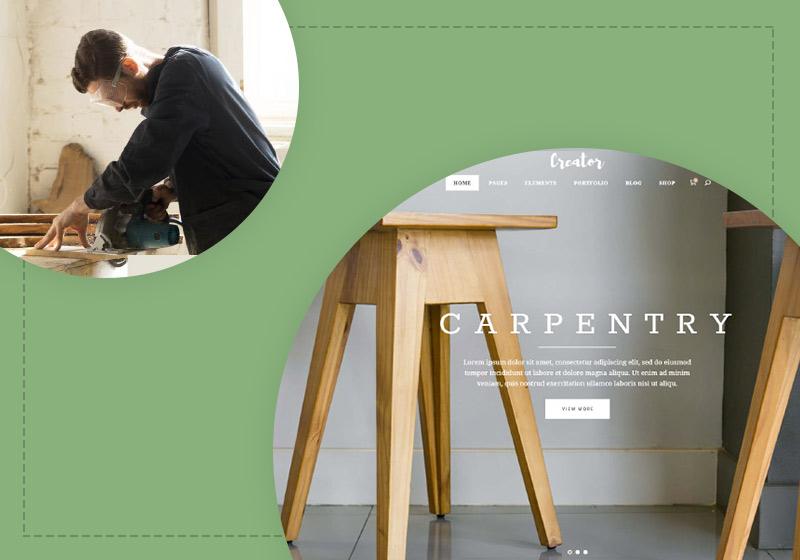 Best Woodworker & Carpenter Website Templates