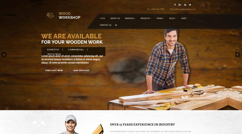 Wood Workshop WordPress Theme