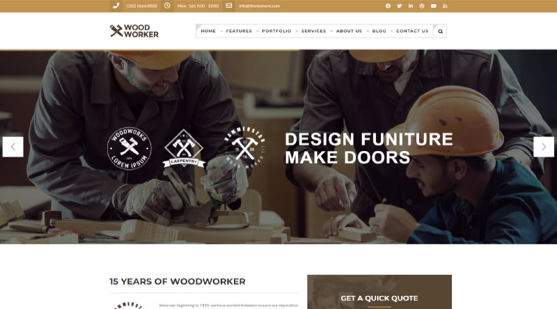 WoodWorker WP Theme